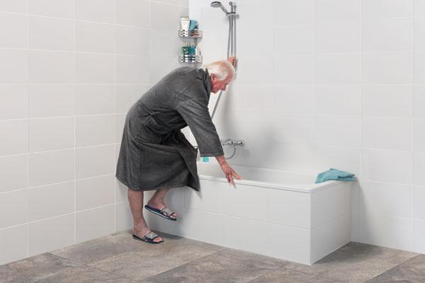 Een Veilige Badkamer : Badkamer oplossing www.inloopdouchebinnen1dag.nl