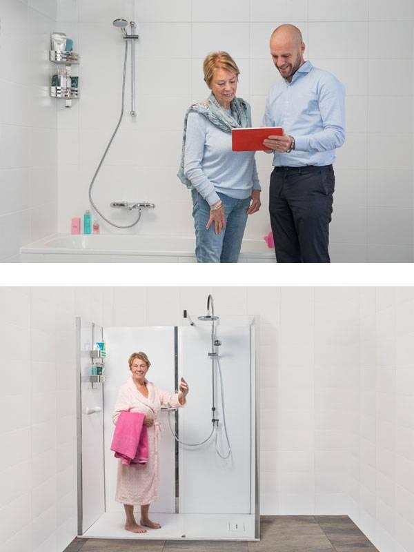 Veilige inloopdouche advies aan huis